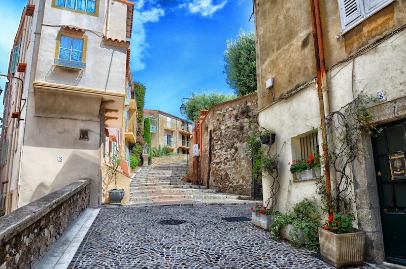 A street in Antibes, the old town of Cannes