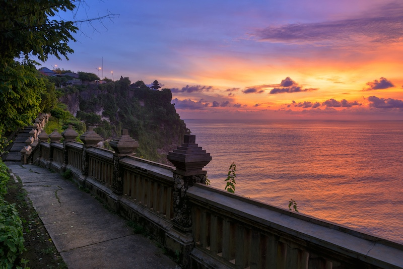 The view from the famous Uluwatu temple