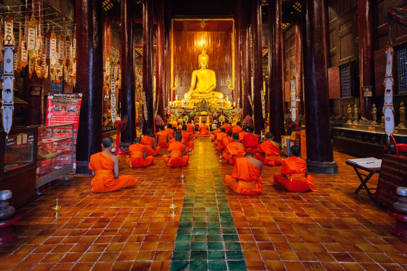 Northern Thailand temple